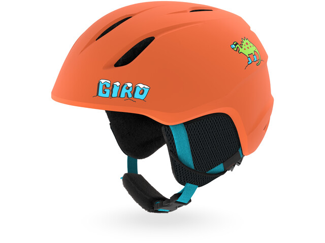 Giro Launch Kask Dzieci, matte deep orange dinosnow